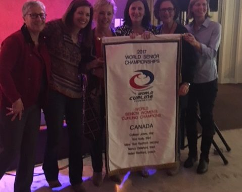 Team Jones Receives World Seniors Championship Banner