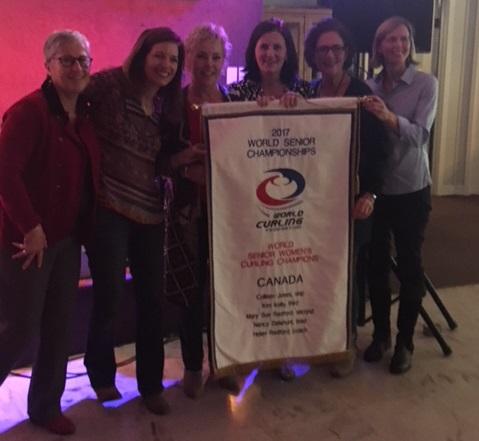 Team Jones Receives World Seniors Championship Banner