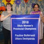 2018 WOMEN'S STICK CHAMPIONS - Pauline Bullerwell & Uttara Deshpande
