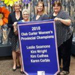 2018 WOMEN'S CLUB CURLER CHAMPIONS: Skip: Leslie Seamone, Third: Kim Wright, Second: Kim Cubhea, Lead: Karen Corbin