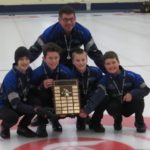 Team MacIsaac - Truro Curling Club - Christopher McCurdy (Lead), Owain Fisher (Second), Evan Hennigar (Third), Calan MacIsaac (Skip) and coach, Craig Burgess