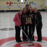 Team Umlah - Lakeshore Curling Club - Amelia Richard (Lead), Kerkeslin MacDonald (Second), Mary Beth Milburn (Third), Alison Umlah (Skip) and coach, Chris MacDonald