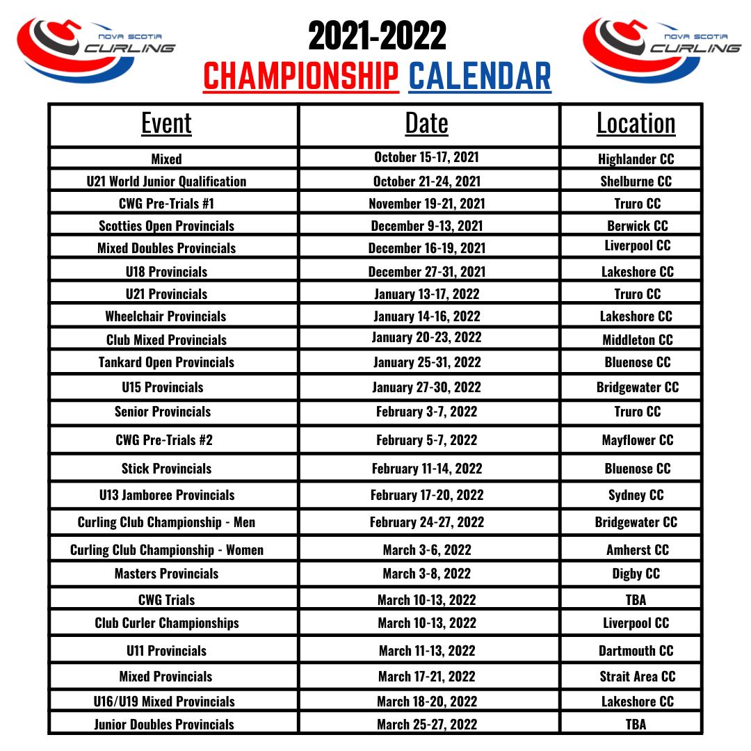 Championship Calendar
